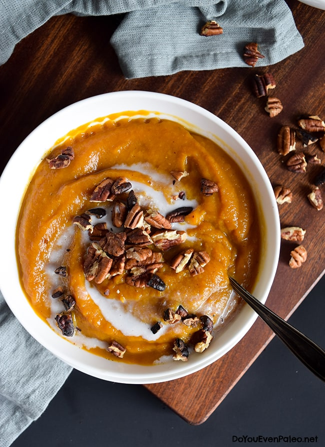 Silky Butternut Squash & Apple Soup