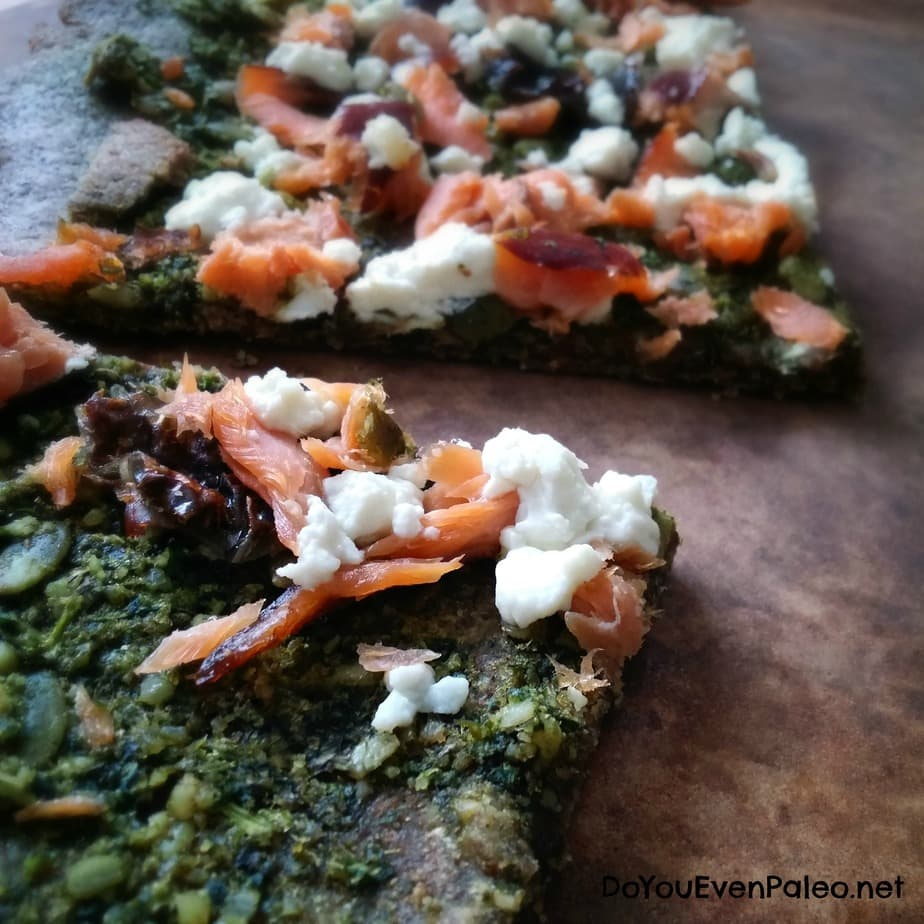 Smoked Salmon and Goat Cheese Pesto Pizza