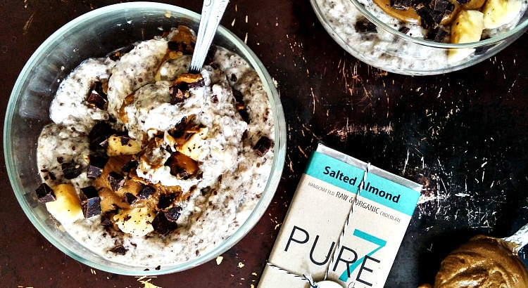 Chunky Monkey Chia Pudding with Pure7 Chocolate