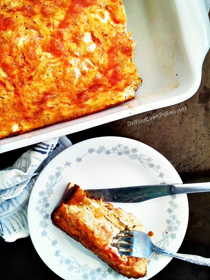Buffalo Chicken Sweet Potato Egg Bake (Whole30)