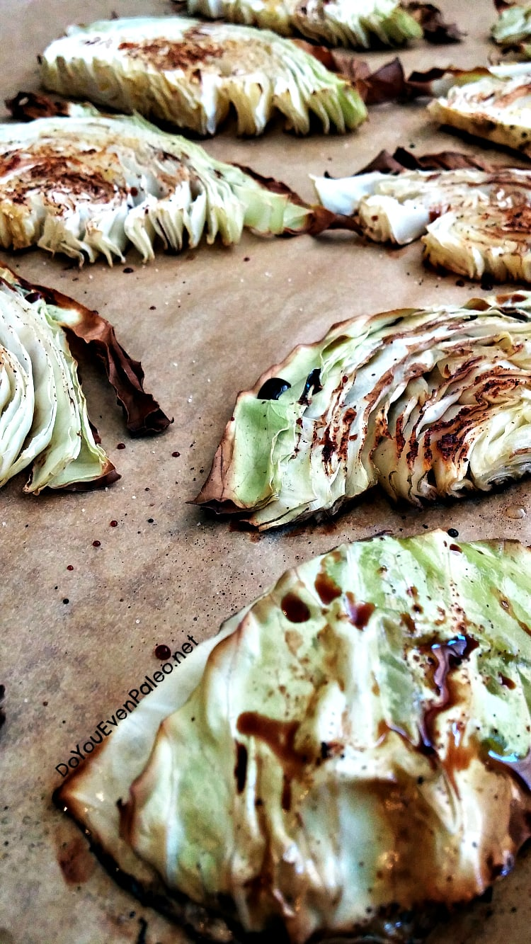 Balsamic Roasted Cabbage | DoYouEvenPaleo.net