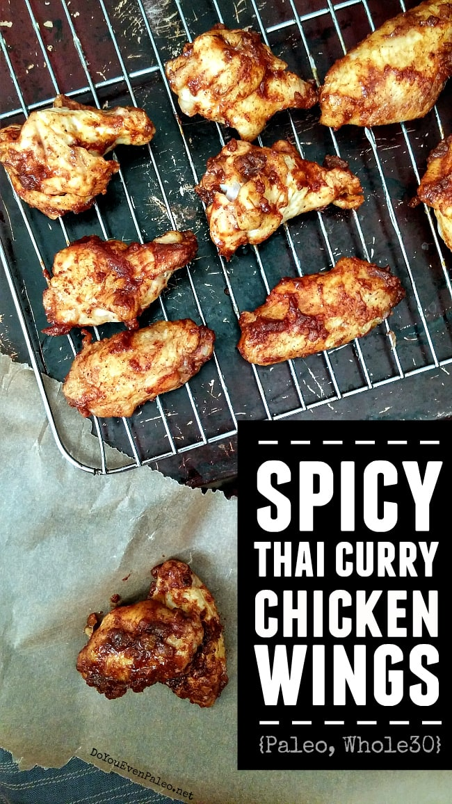 Spicy Thai Curry Chicken Wings Image
