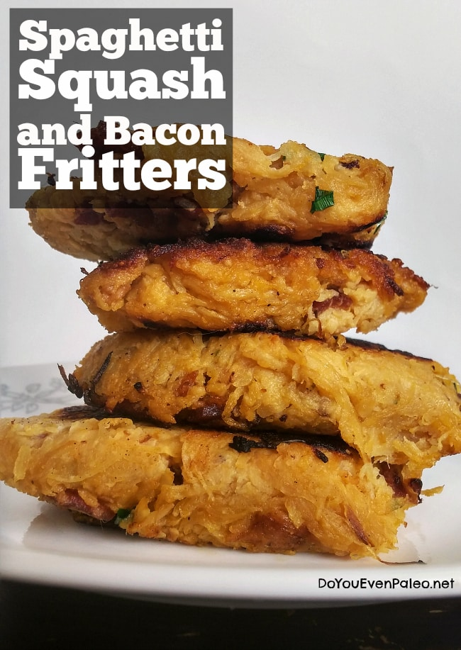 Spaghetti Squash and Bacon Fritters