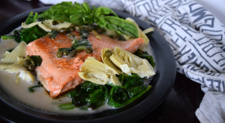 Tuscan Salmon with Coconut Basil Sauce Banner