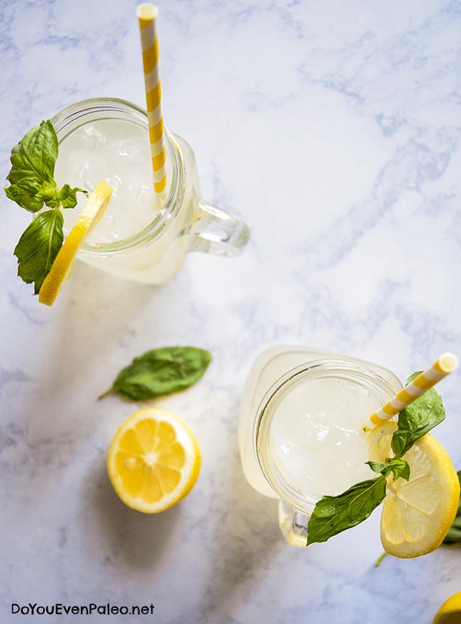 Honey-Sweetened Basil Lemonade | DoYouEvenPaleo.net