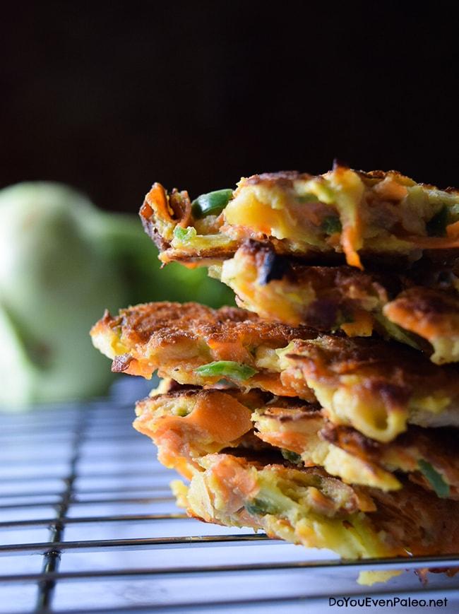 Kohlrabi, Carrot, and Jalapeno Fritters | DoYouEvenPaleo.net