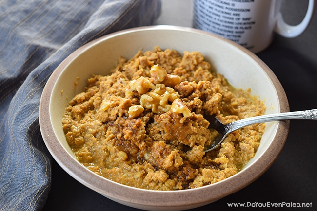 Grain-Free Pumpkin Walnut Porridge | DoYouEvenPaleo.net