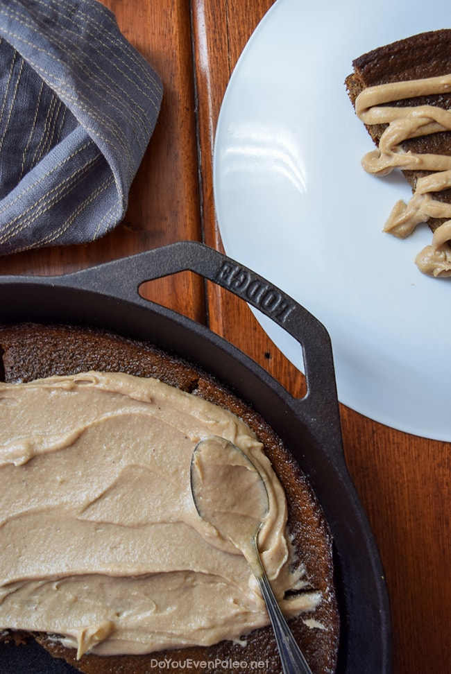 Gingerbread Plantain Cake + Maple Cashew Frosting | DoYouEvenPaleo.net