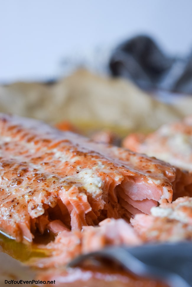 Maple Mustard Salmon | DoYouEvenPaleo.net
