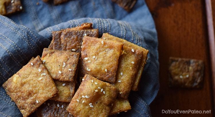 Sesame Plantain Crackers | DoYouEvenPaleo.net