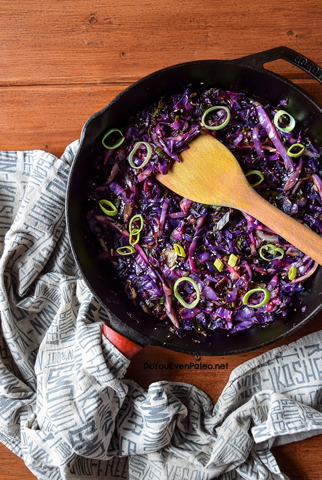 Sautéed Cabbage with Leeks | DoYouEvenPaleo.net