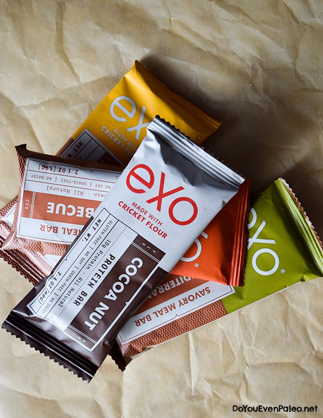 Exo Cricket Flour Bars! Top 3 Paleo Protein Bars | DoYouEvenPaleo.net