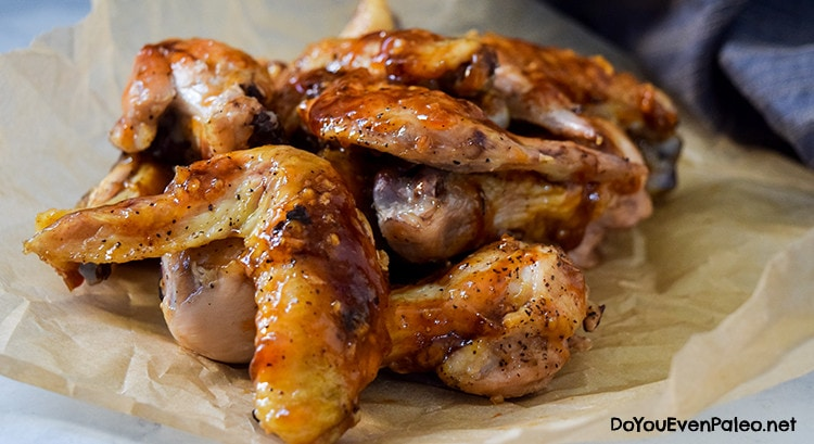 Honey Garlic Chicken Wings | DoYouEvenPaleo.net