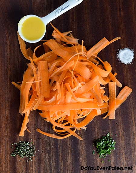 Carrot Ribbons with Rosemary Butter Sauce | DoYouEvenPaleo.net