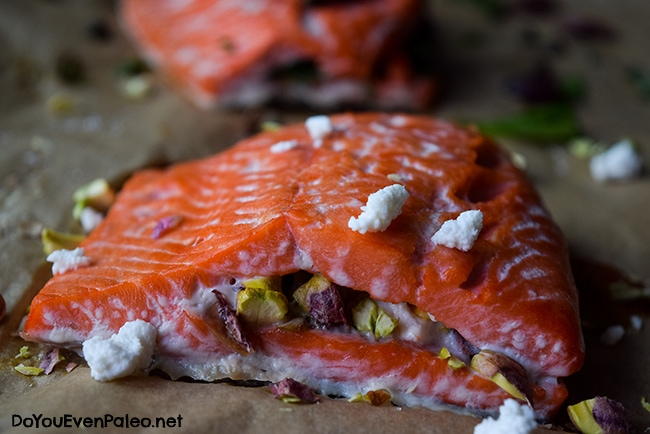 Stuffed Salmon (two ways) | DoYouEvenPaleo.net