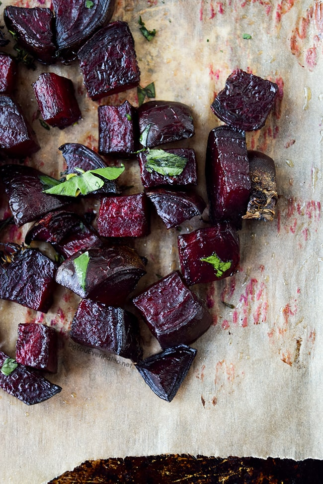 Whole30 Roasted Beets with Parsley | DoYouEvenPaleo.net