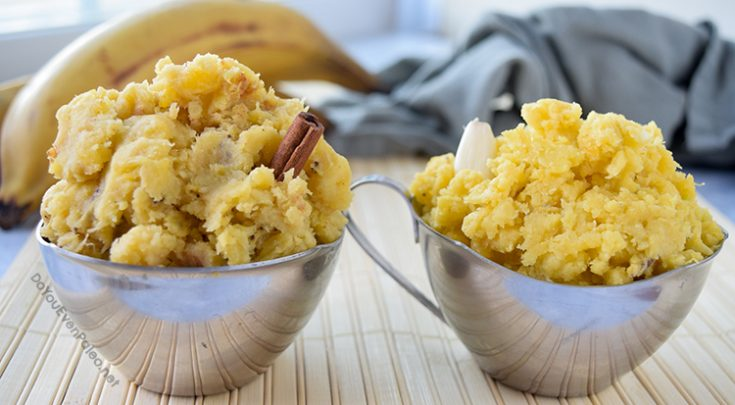 Mashed Plantains—Sweet & Savory