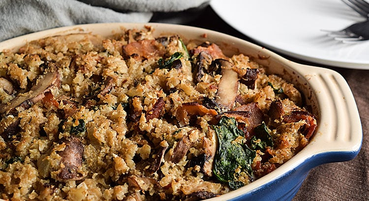 Mushroom, Bacon, and Cauliflower Casserole | DoYouEvenPaleo.net