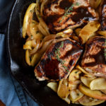 One Skillet Pork Chops with Apples & Onions | DoYouEvenPaleo.net