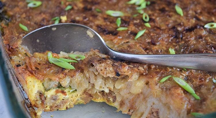 Sausage, Egg, & Hashbrown Breakfast Casserole | DoYouEvenPaleo.net