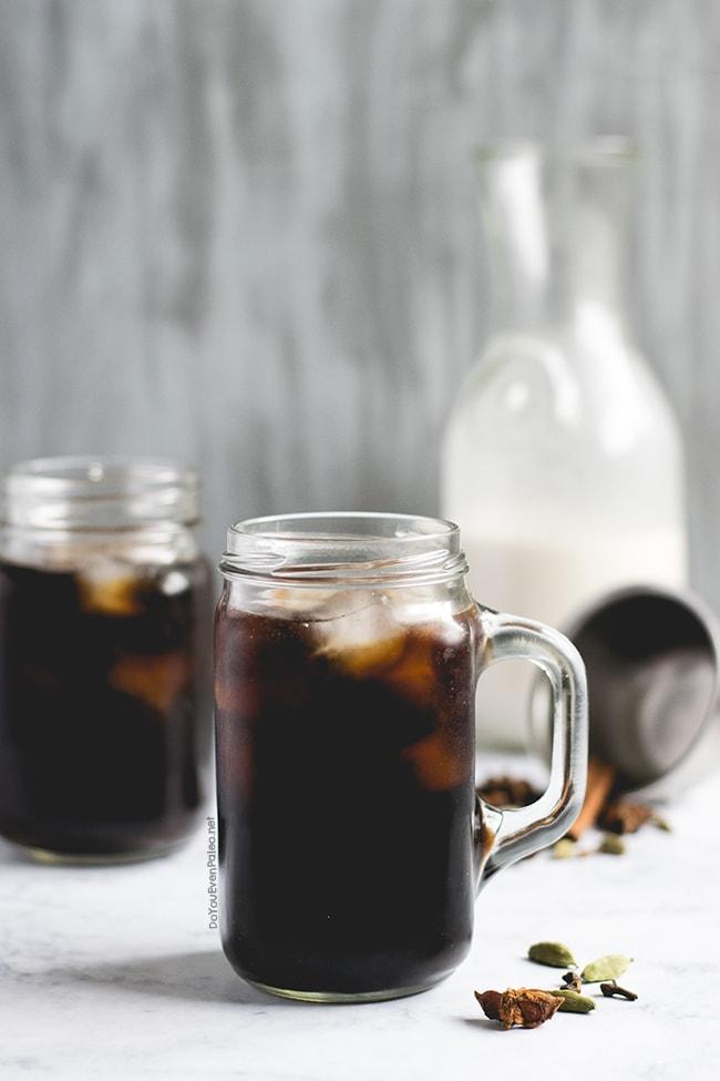 Chai-Spiced Cold Brew Latte | DoYouEvenPaleo.net