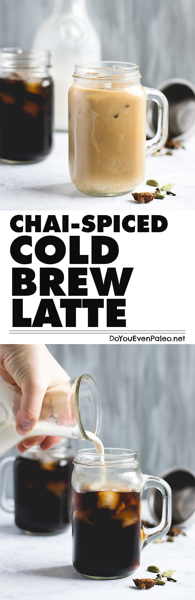 Chai-spiced cold brew latte recipe