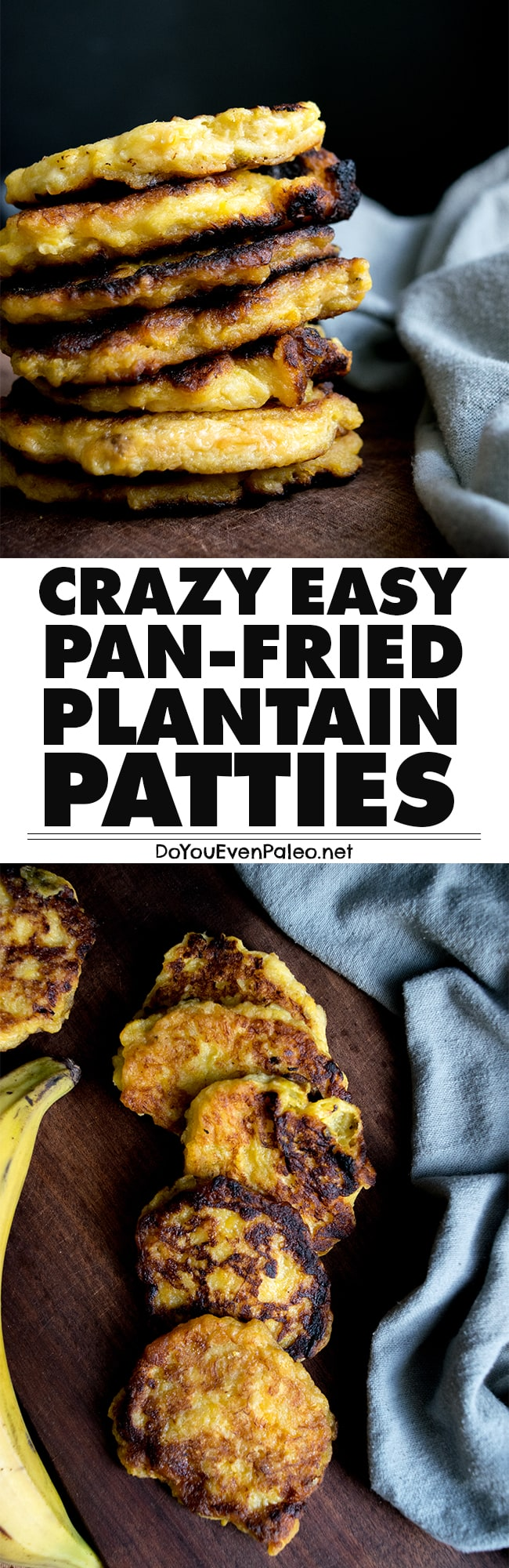 Crazy Easy Plantain Patties Recipe Pin | DoYouEvenPaleo.net