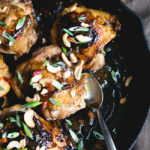 One Skillet Kung Pao Chicken Thighs | DoYouEvenPaleo.net