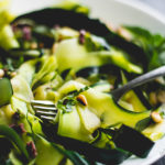 Sautéed Zucchini Noodles with Basil, Pine Nuts, and Olives | DoYouEvenPaleo.net