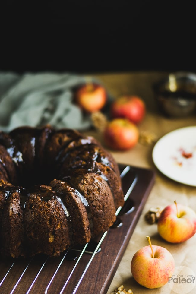 Gluten Free Apple Walnut Bundt Cake | DoYouEvenPaleo.net