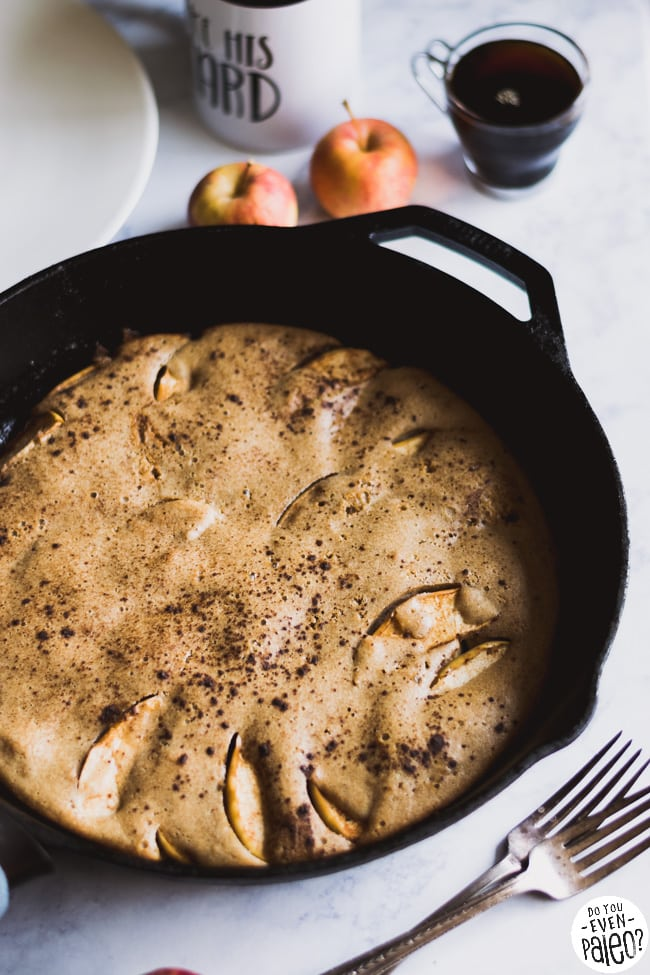 Cast Iron German Apple Pancake | DoYouEvenPaleo.net