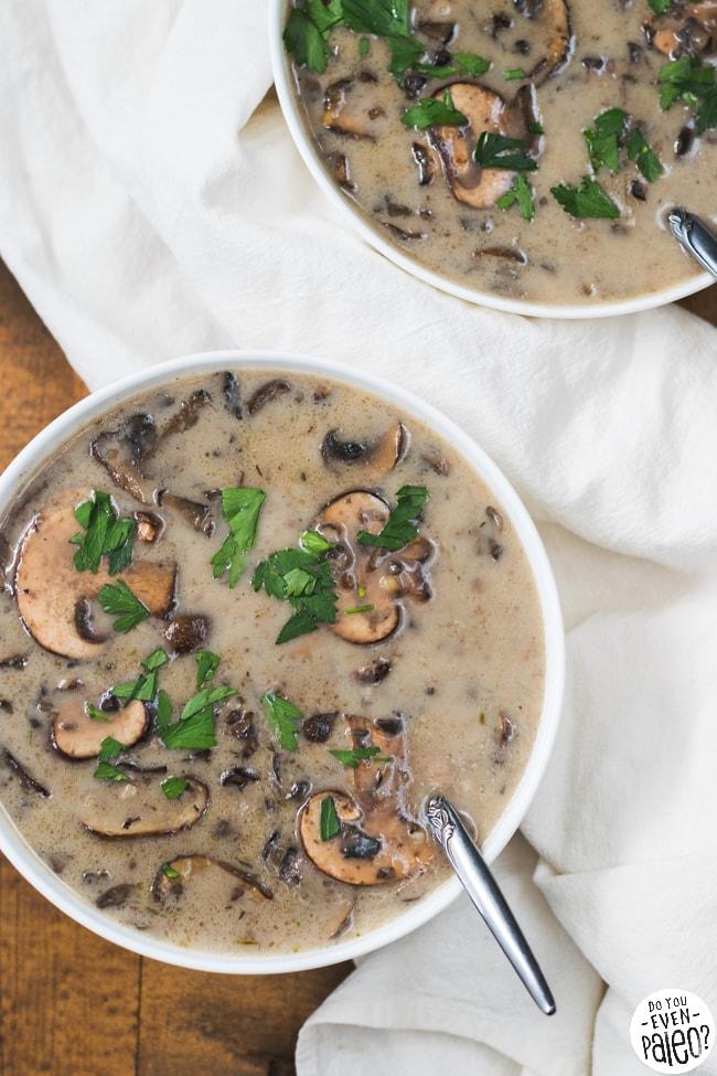 Paleo Creamy Garlic Mushroom Soup | DoYouEvenPaleo.net