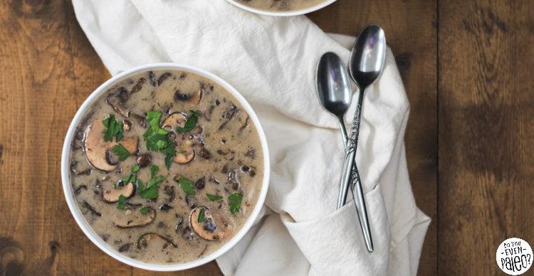Dairy Free Garlic Mushroom Soup | DoYouEvenPaleo.net