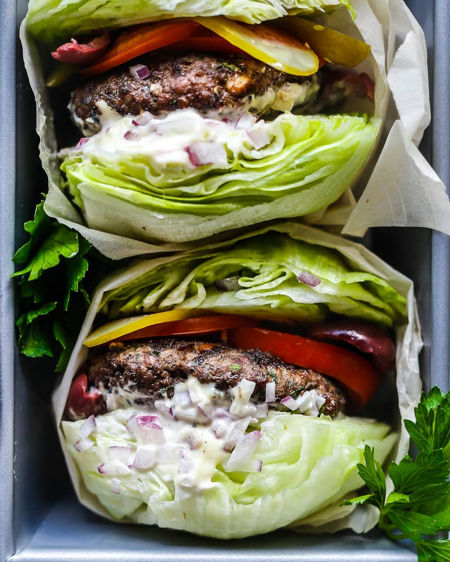 Whole30 Greek Burgers by Primal Gourmet