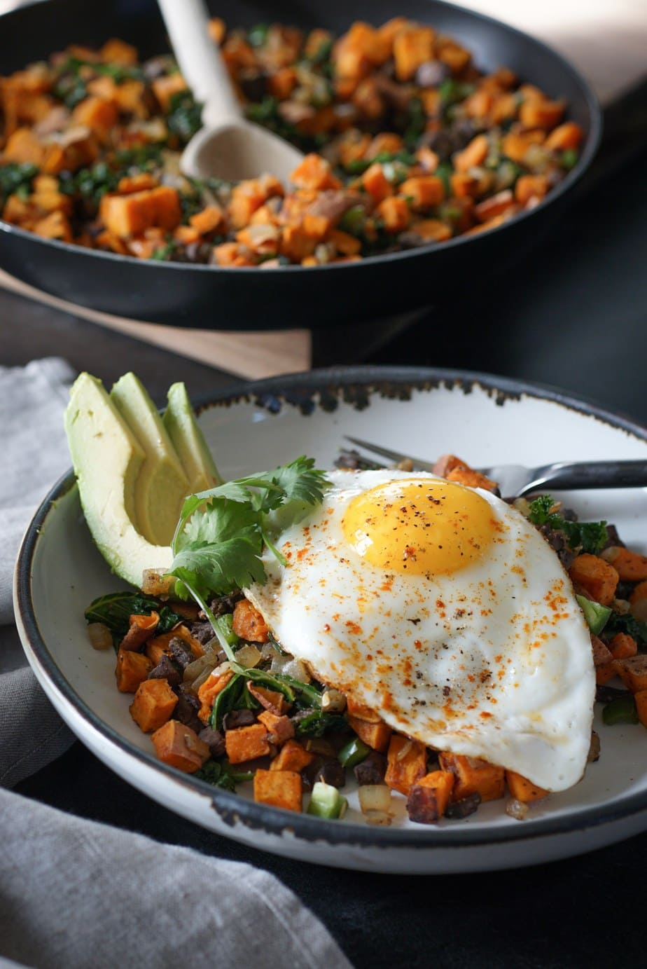 Whole30 Hearty Sweet Potato Hash by Wild and Whole
