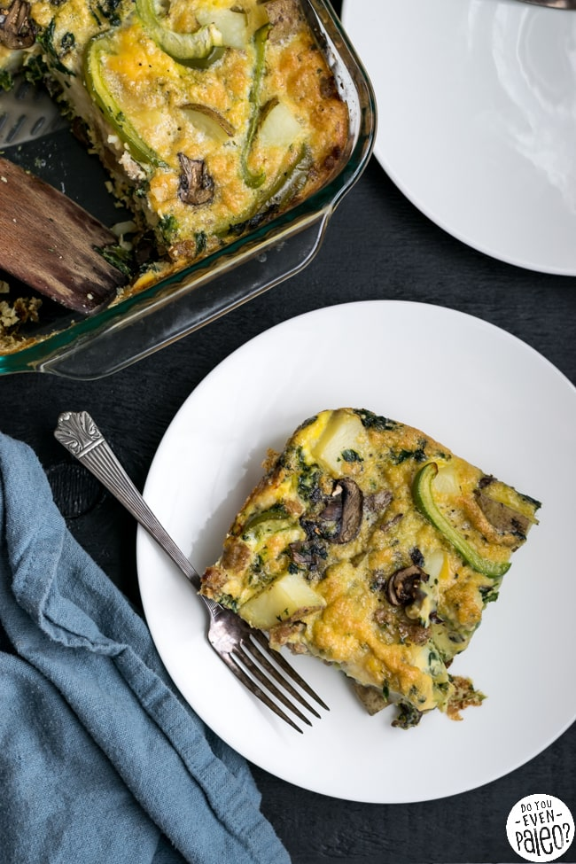 Paleo Potato, Sausage, and Veggie Egg Bake | DoYouEvenPaleo.net