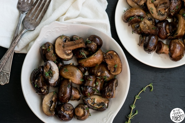 Simple Sautéed Mushrooms with Garlic & Thyme | DoYouEvenPaleo.net