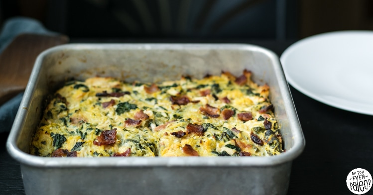 Chicken Bacon Ranch Spaghetti Squash Casserole | DoYouEvenPaleo.net