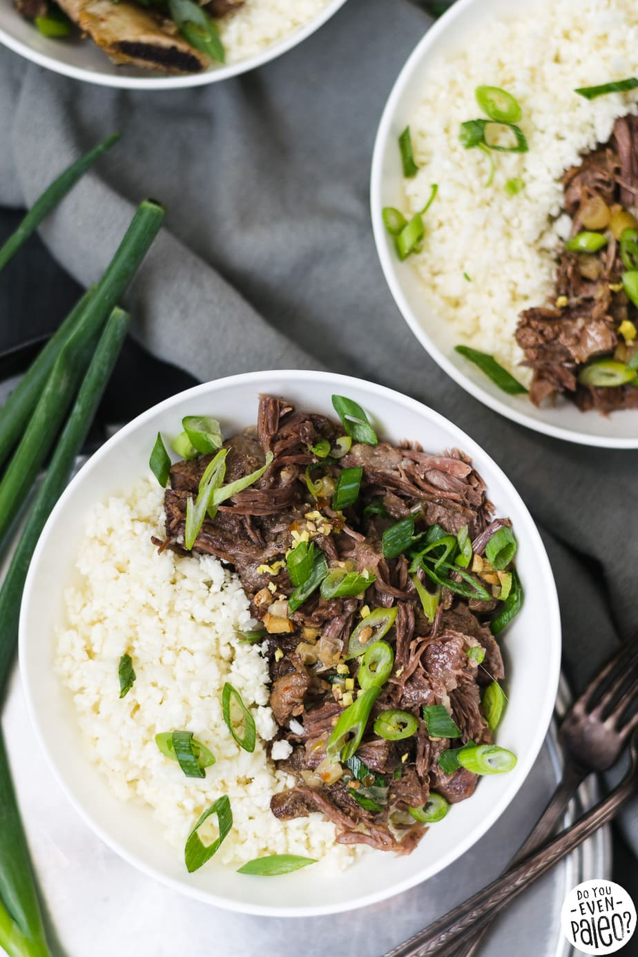 Whole30 Braised Ginger Scallion Short Ribs with Cauliflower Rice | DoYouEvenPaleo.net