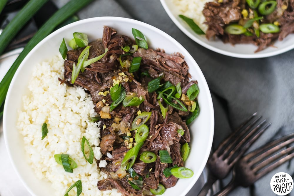 Braised Ginger Scallion Short Ribs with Cauliflower Rice | DoYouEvenPaleo.net