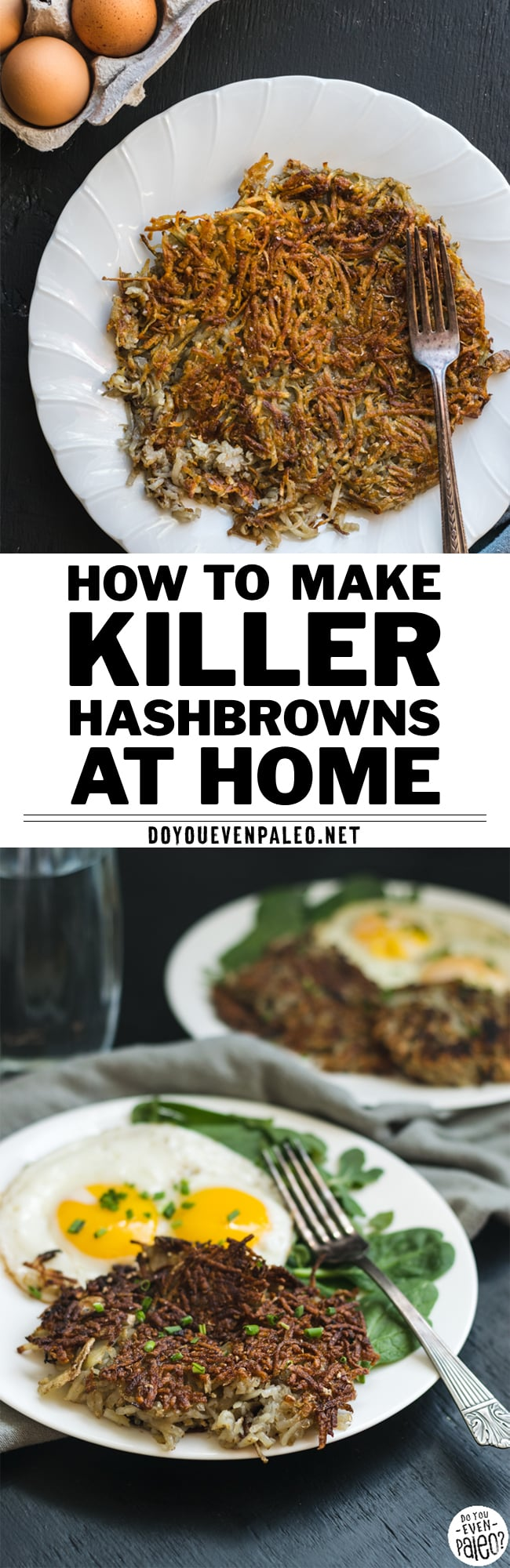 How to Make Hashbrowns at Home Recipe Pin | DoYouEvenPaleo.net