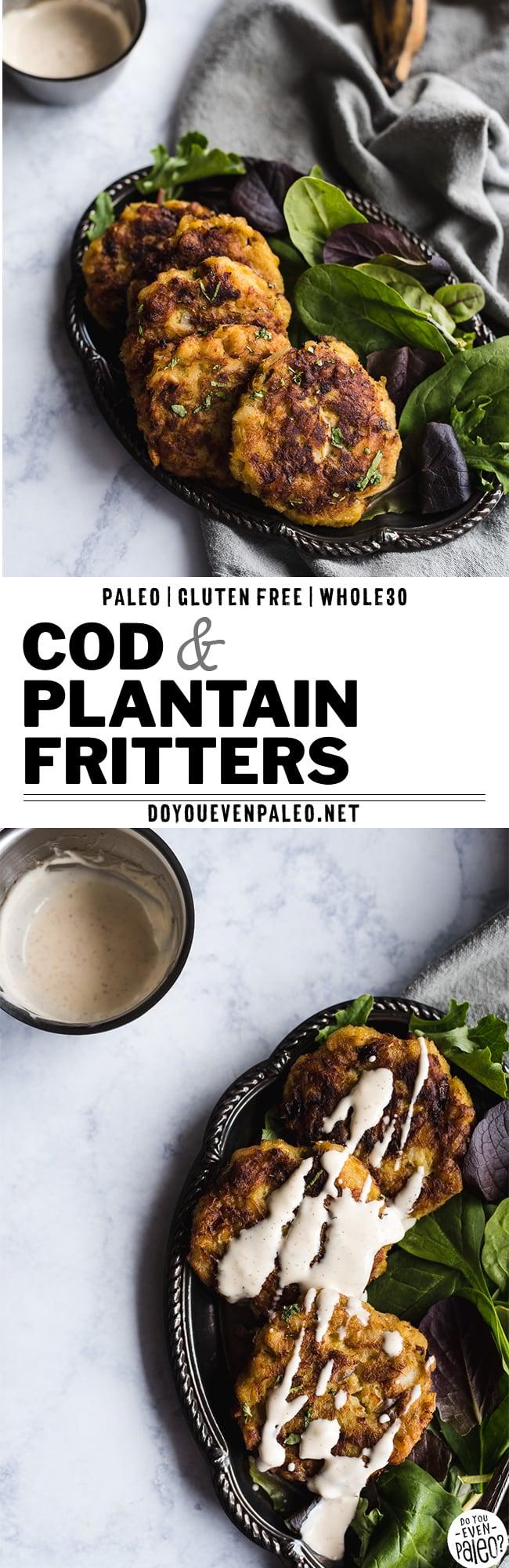 Paleo Cod & Plantain Fritters Recipe | DoYouEvenPaleo.net