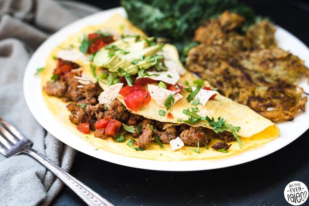 Paleo Southwestern Sausage Omelette Recipe | DoYouEvenPaleo.net