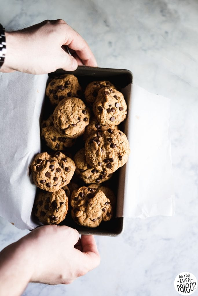 Gluten Free Tahini Chocolate Chip Cookies Recipe | DoYouEvenPaleo.net