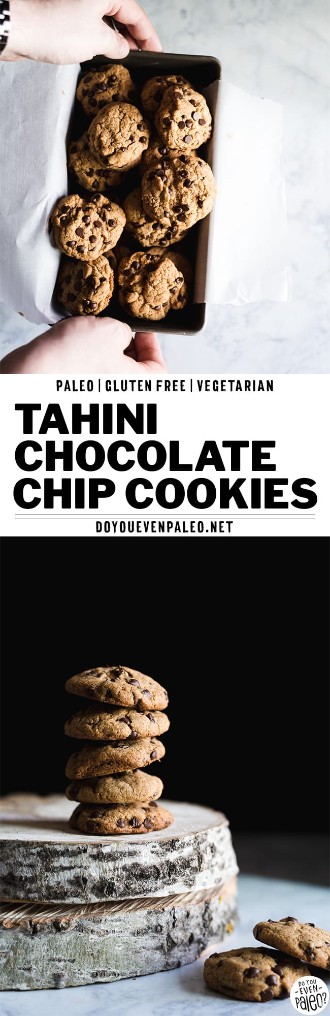 Paleo Tahini Chocolate Chip Cookies Recipe | DoYouEvenPaleo.net