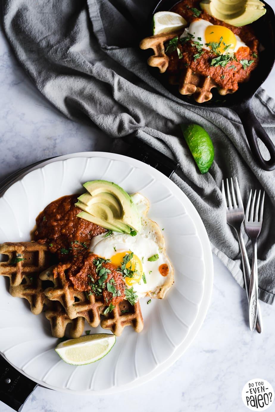 Gluten Free & Paleo Waffle Huevos Rancheros Recipe | DoYouEvenPaleo.net