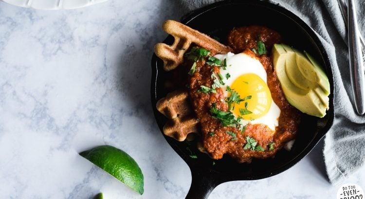 Paleo Waffle Huevos Rancheros Recipe | DoYouEvenPaleo.net