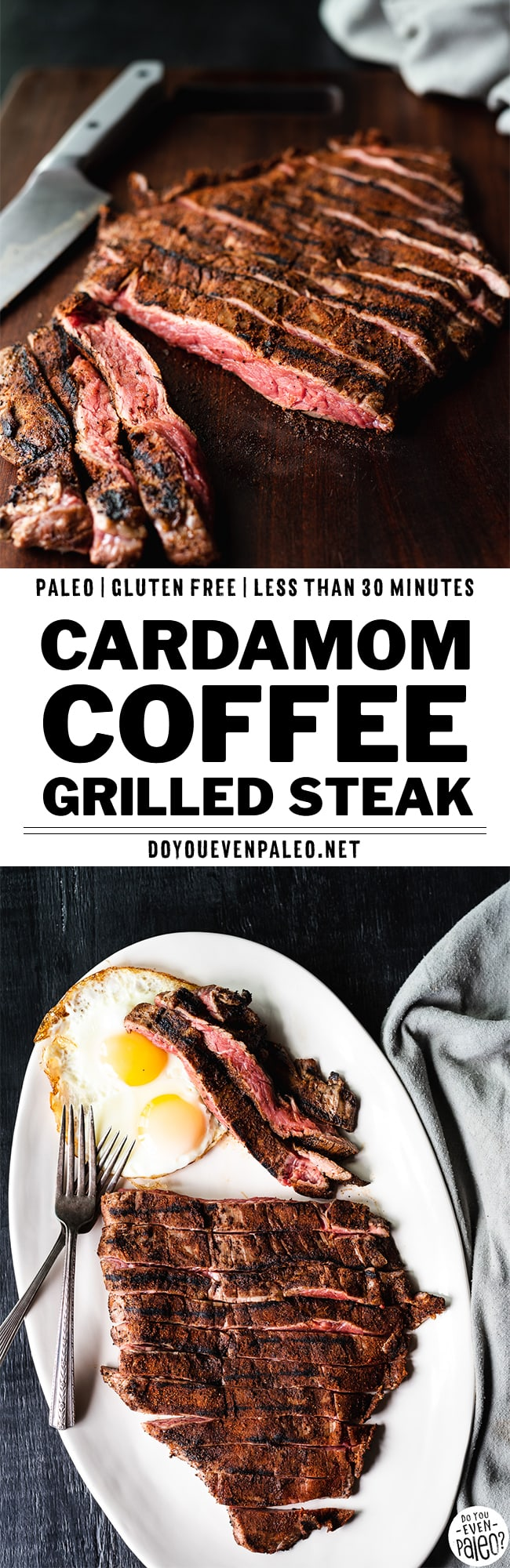 Cardamom Coffee Rubbed Steak | DoYouEvenPaleo.net