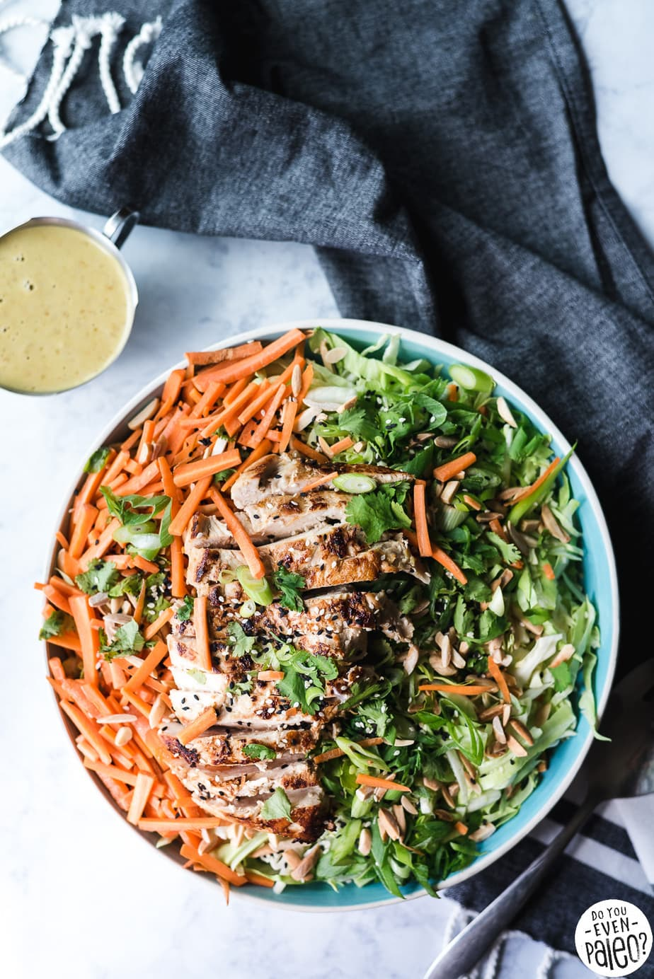 Paleo Chinese Chicken Salad Recipe with Sesame Ginger Dressing | DoYouEvenPaleo.net