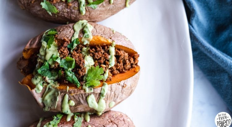 Whole30 Chorizo-Stuffed Sweet Potatoes | DoYouEvenPaleo.net